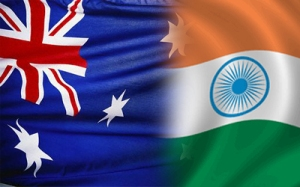 AusIndia flags